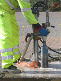 Core Drill in action